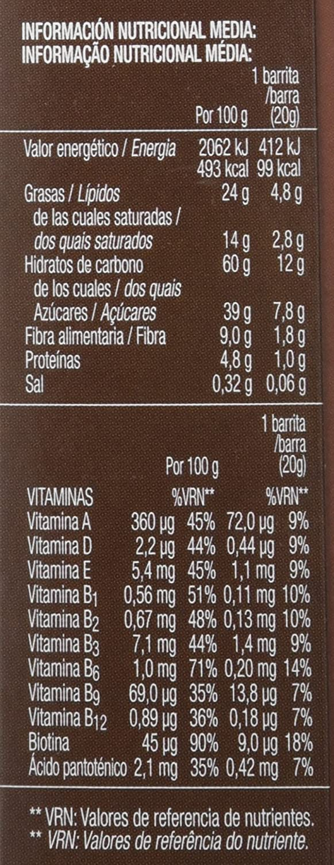 Bicentury Sarialis, Barritas de Cereales y Chocolate Negro - 120 g: Amazon.es: Amazon Pantry