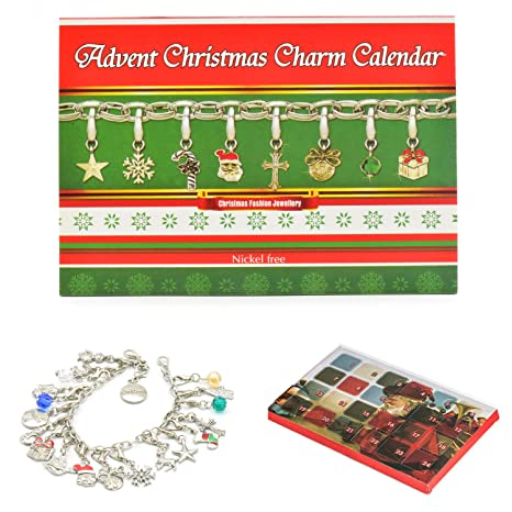 Christmas Gift Ideas 2019 Diy.Idubai Advent Calendar 2019 Diy Bracelet Necklace With 22 Charms Set Xmas Countdown Calendar Fashion Jewelry Christmas Advent Calendar Gifts Ideas For