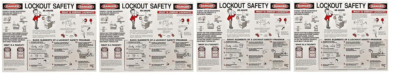Brady Laminated Lockout Safety Poster, 18