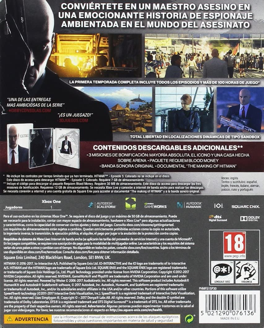 Hitman: La Primera Temporada Completa: Amazon.es: Videojuegos