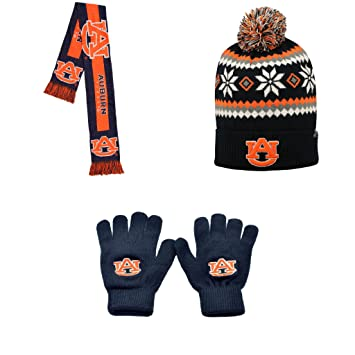 timeless design 802ab 2f925 ... aliexpress closeout ncaa auburn tigers fogbow beanie hat big logo scarf  and knit gloves 3 pack