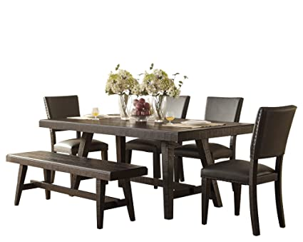 Super Amazon Com Fabyan Rough Industrial 6Pc Dining Set Table 4 Customarchery Wood Chair Design Ideas Customarcherynet