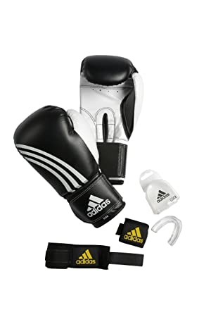 e1de433df Adidas KIT BOXE noir blanc 12 oz  Amazon.fr  Sports et Loisirs