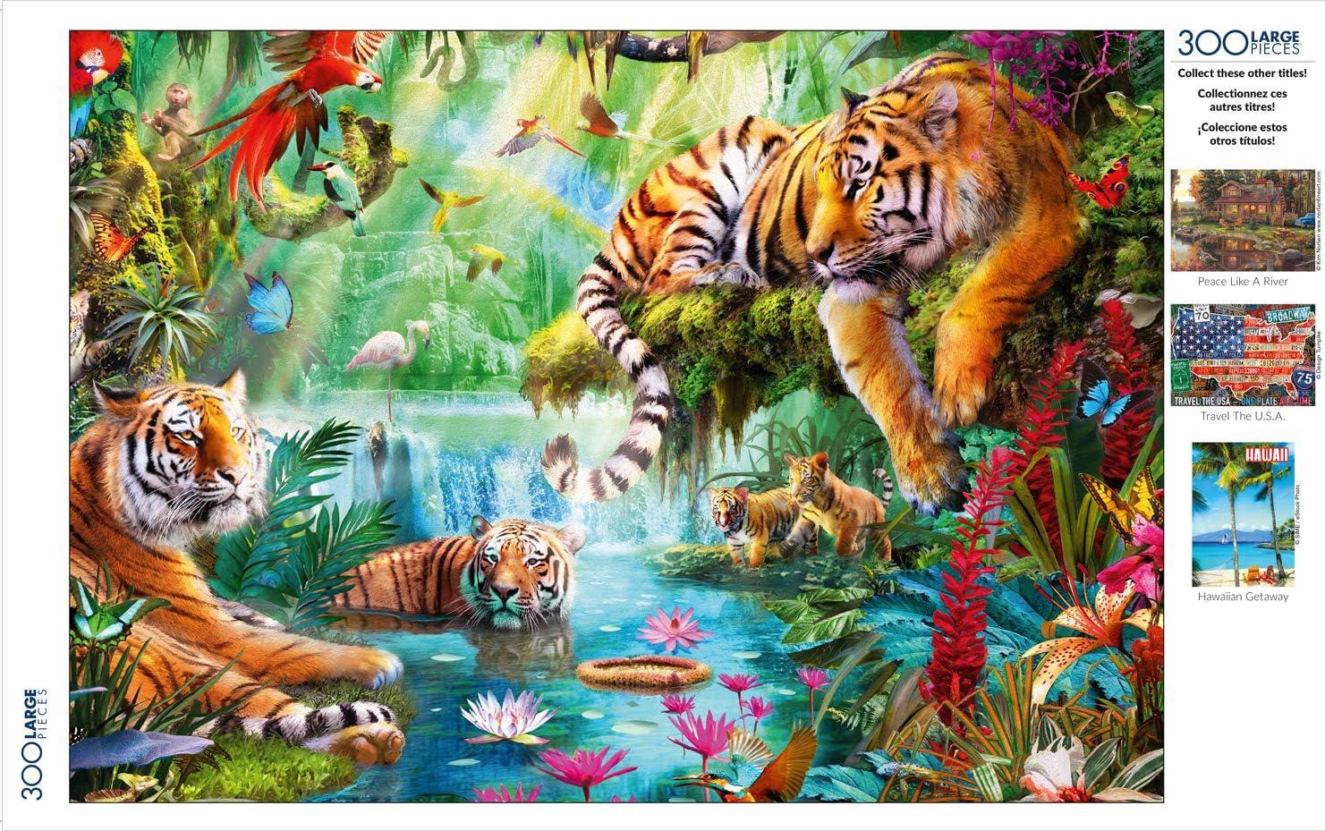 Buffalo Games 300 Large Piece Jigsaw Puzzle Tiger Lagoon