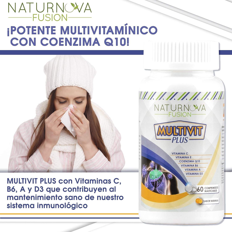 Vitaminas C, E, B6, A y D3 para aportar energía y fortalecer a nuestro organismo – Multivitaminas con Coenzima Q10 para el correcto funcionamiento ...