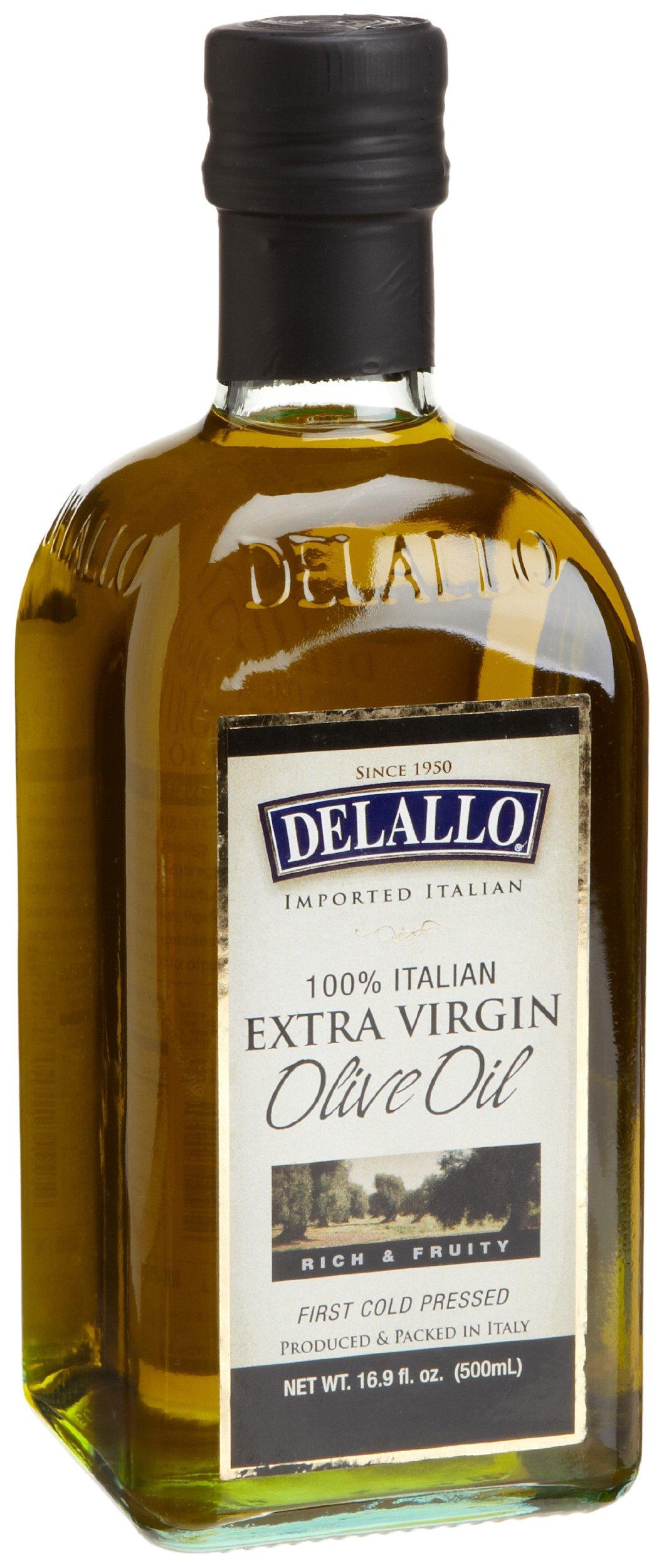 DeLallo Extra Virgin Olive Oil, 16.9-Ounce Bottles (Pack of 12)