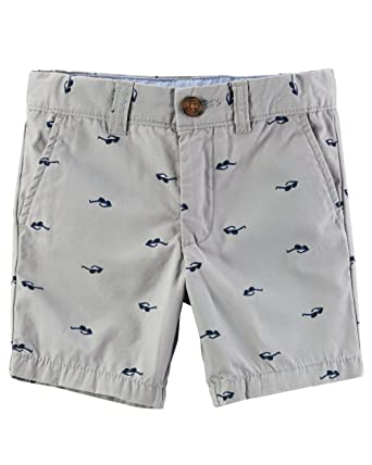 ea715b71d Amazon.com  Carter s Toddler Boys  Printed Flat-Front Canvas Shorts ...