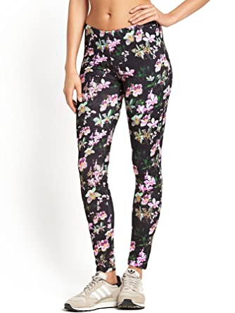 d5e97c1f9072d Adidas Originals Orchid Flower Print Leggings -: Amazon.co.uk ...