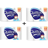 Quilton 3 Ply White Paper Towel (60 Sheets per Roll), 12 Count, Pack of 12 (4 Pack)