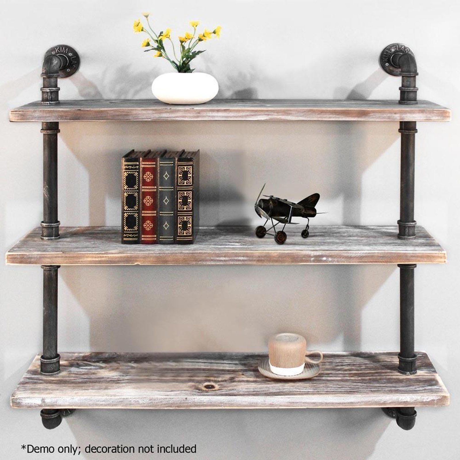 Details About Diwhy Shelves Industrial Shelf With Pipe Diy Retro Wall Mount Iron Pipe Shelf