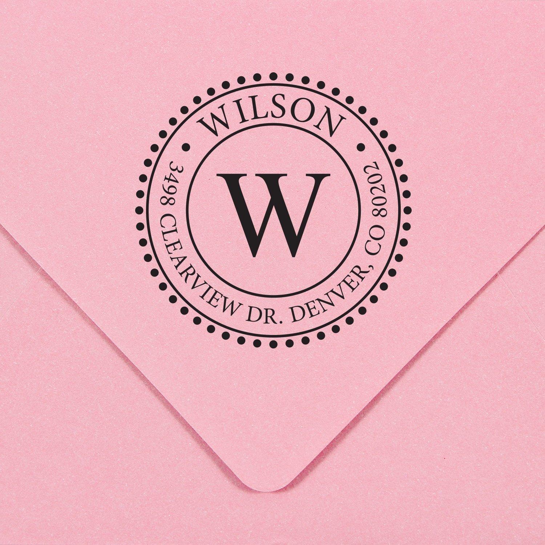 Self Inking Monogram Address Stamp - ExcelMark Style 320