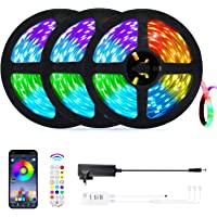 50ft LED Strip Lights, OxyLED Music Sync Color Changing LED Lights for Bedroom, App Control, Remote, Control Box LED…