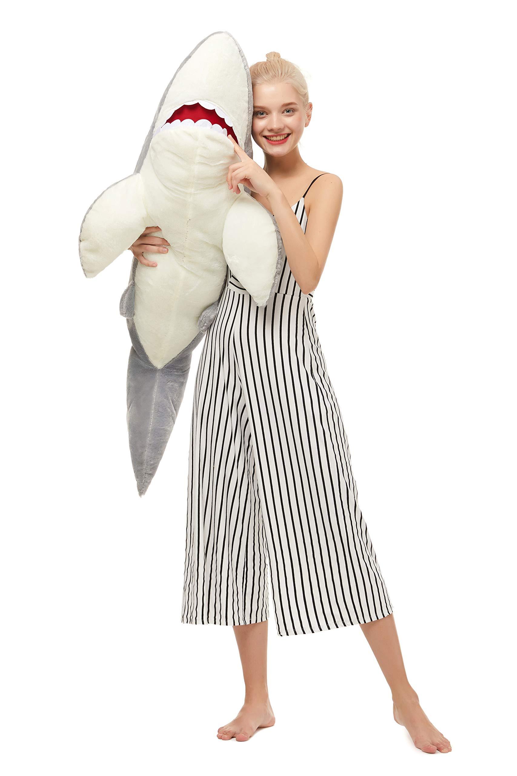 MorisMos Giant Shark Stuffed Animal,Gray Shark Plush Pillow,Plush Toy,Gift for Kids Girlfriend,51 Inches by MorisMos (Image #5)