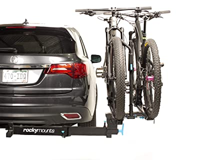 """RockyMounts BackStage 2"""" Receiver Swing Away platform hitch 2 bicycle rack. Allows full access to the rear of the vehicle"""