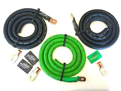 Fine Amazon Com Sky High Oversized 1 0 Gauge Ofc Awg Big 3 Upgrade Green Wiring Digital Resources Counpmognl
