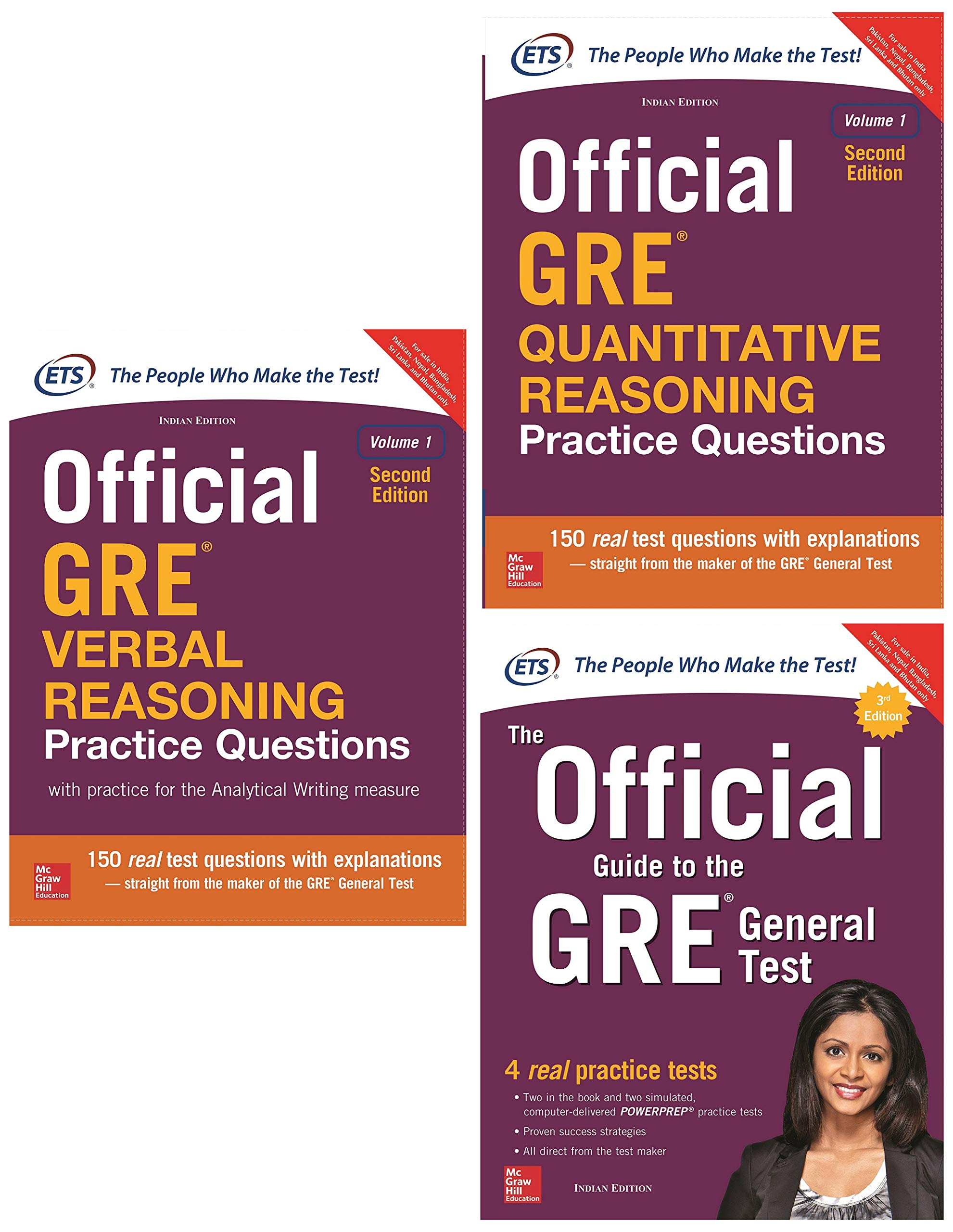 McGraw Hill Education's GRE Prepration Combo (Set of 3 books)