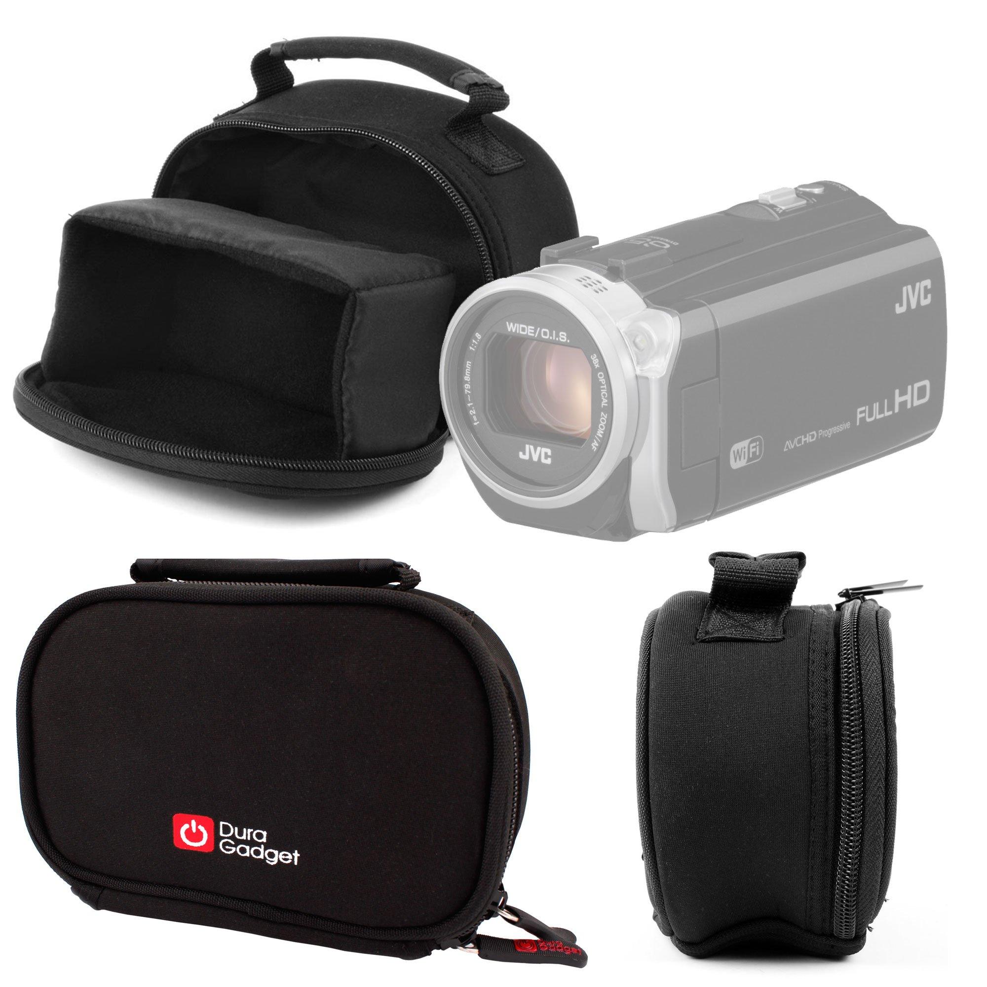 DURAGADGET Water-Resistant Digital Video Camera Bag for JVC Everio GZ and MS Range