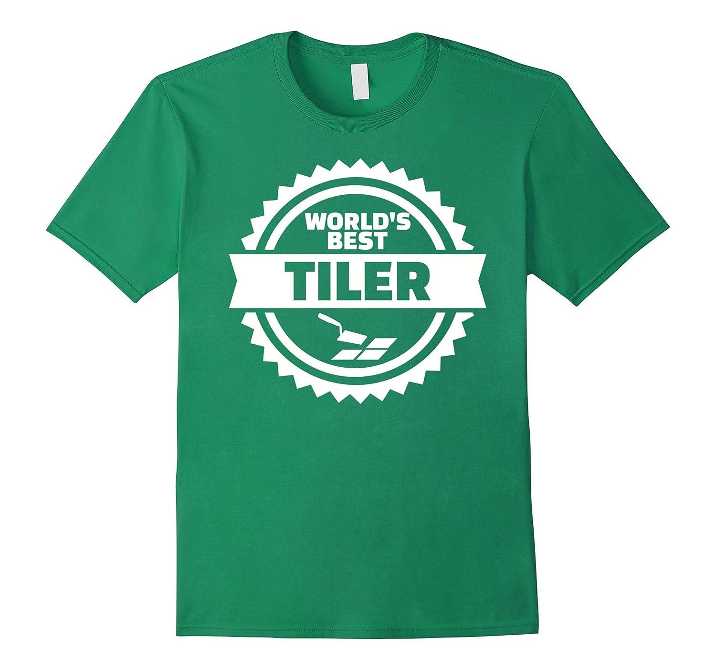 Mens Worlds best tiler T-Shirt-TJ