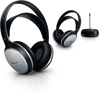 Philips SHC 5102/10 - Pack de 2 auriculares de diadema cerrados inalámbricos, negro: Amazon.es: Electrónica