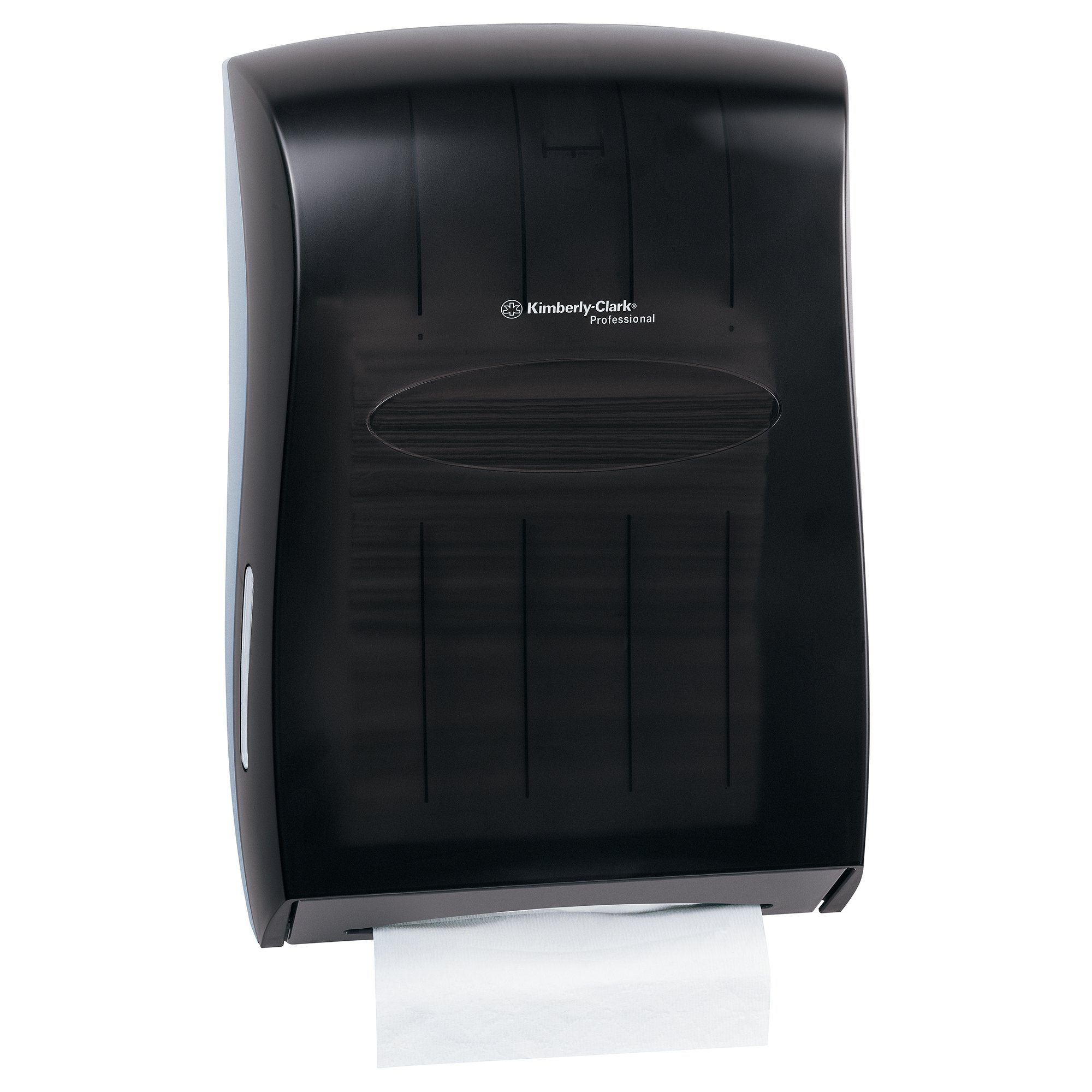 "Kimberly Clark Professional Universal Folded Paper Towel Dispenser (09905), for Kleenex and Scott Brand Multifold and C-fold, 13.3"" x, 5.9"" x 18.9"", Smoke (Black)"