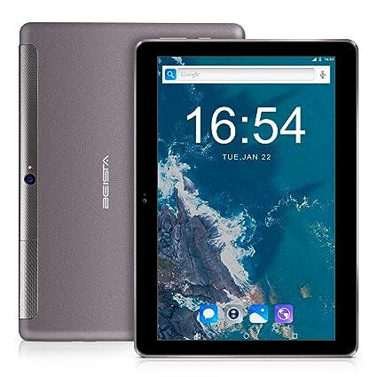 Tablet 10 Pulgadas BEISTA-(3GB RAM,32GB ROM,Cuerpo de metal ultrafino,HD Pantalla de Vidrio Templado,3G Sim,WiFi,Android 7.0,GPS)-Gris