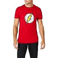 DC Comics - Camiseta de Flash con cuello redondo de manga corta para hombre 8f2dd93b1be12