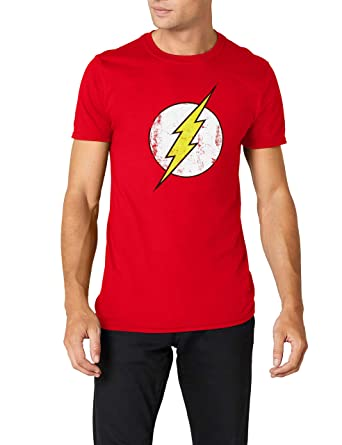 DC Comics Men s The Flash Logo T-Shirt  Amazon.co.uk  Clothing 22f66cca5d1ff