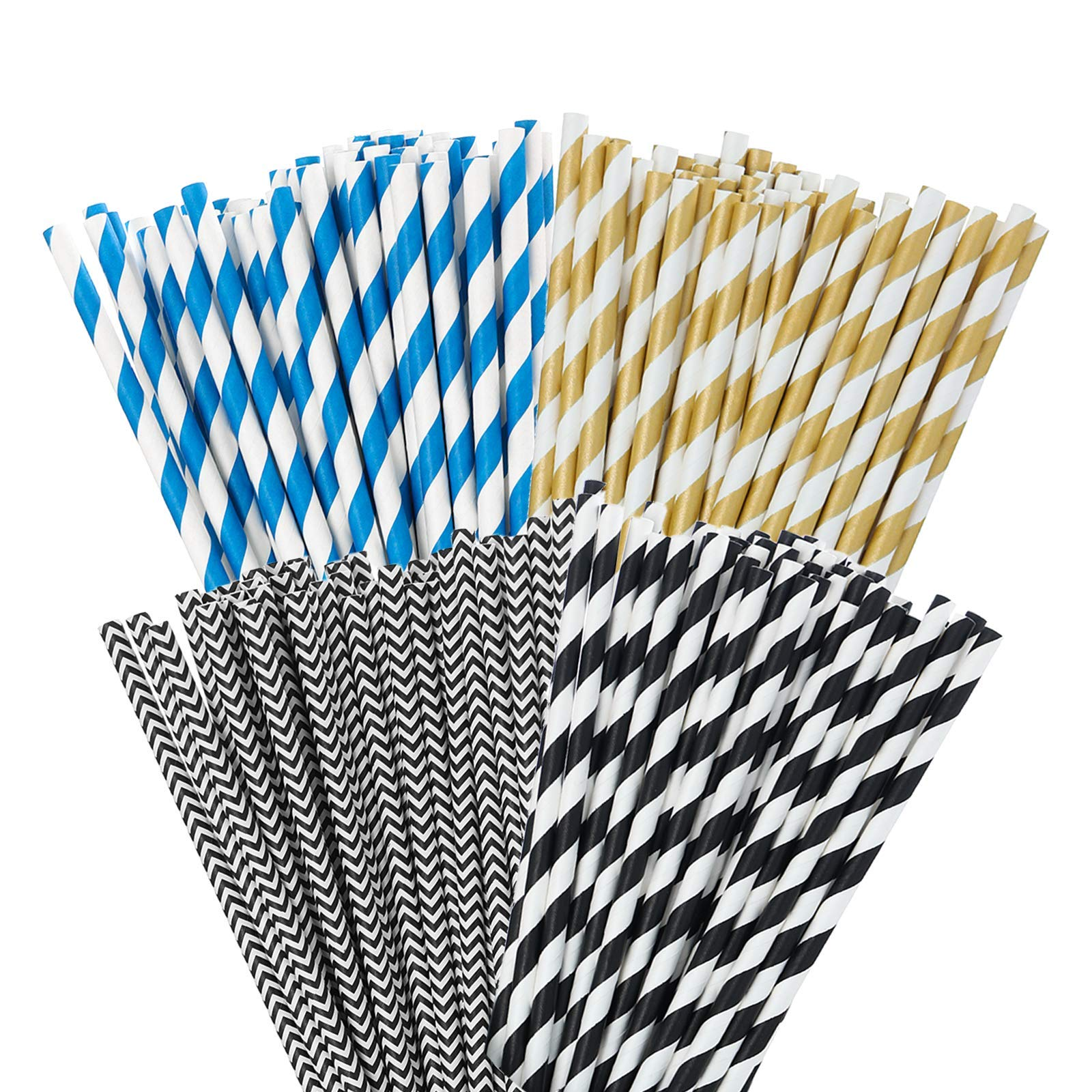 ECOCONUT Paper Straws 200 Pack -Paper Drinking Straws Disposable& Eco-Friendly Straw Biodegradable