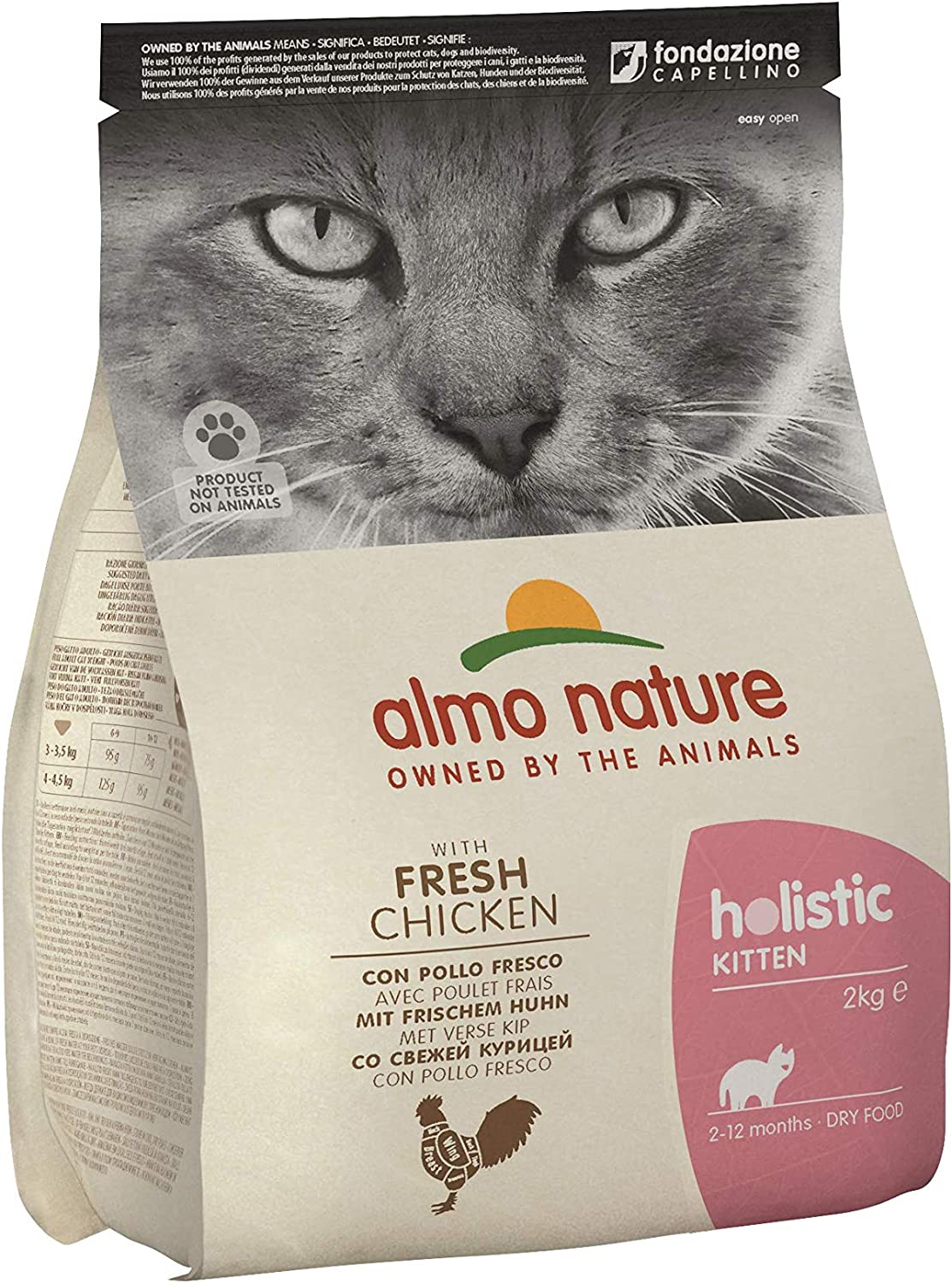 almo nature Cat Dry PFC Holistic Kitten Pollo y Arroz - 2000 gr