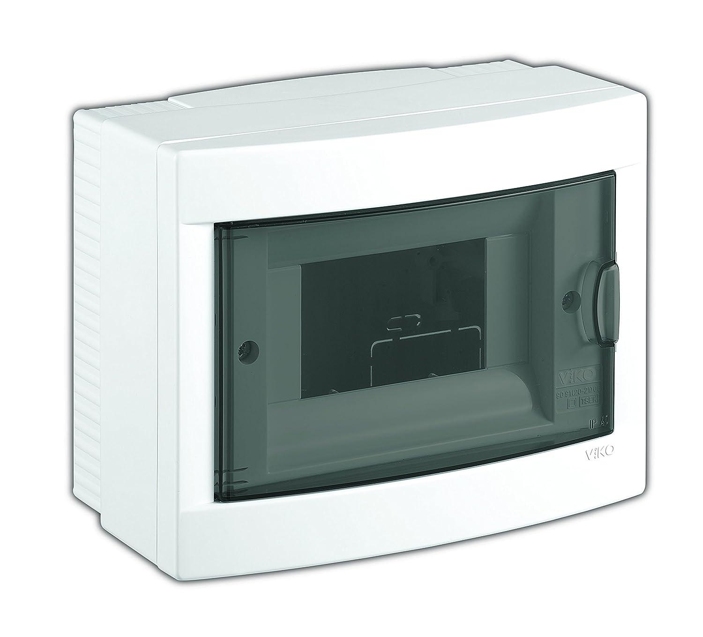 1-reihig mit Hutschiene Sicherungskasten //Verteilerkasten Aufputz IP40 PE//N Klemmen Aufputz Kleinverteiler 12 Module