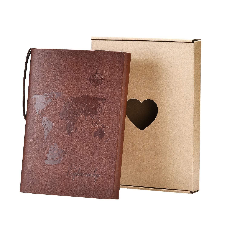 Cuaderno de viaje vintage estilo libre