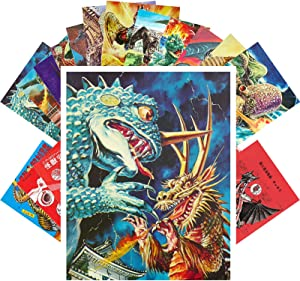 Postcard Set 24 cards KAIJU GODZILLA Vintage Movies Posters