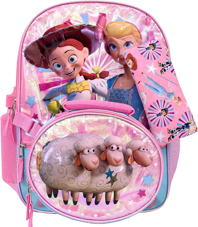 Toy Story 4 Jessie Bo Peep School Backpack Book /& Lunch Box Bag 5 Pc Set Girls