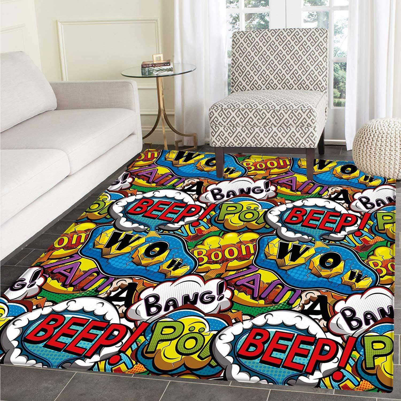 Marvel Avengers Bedroom Non-slip Mats Home Carpet Kid Floor Rug Door Square Mat