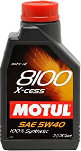 Motul 007236 8100 X-cess 5W-40 100 Percent Synthetic Gasoline and Diesel Engine Oil - 1 Liter Bottle