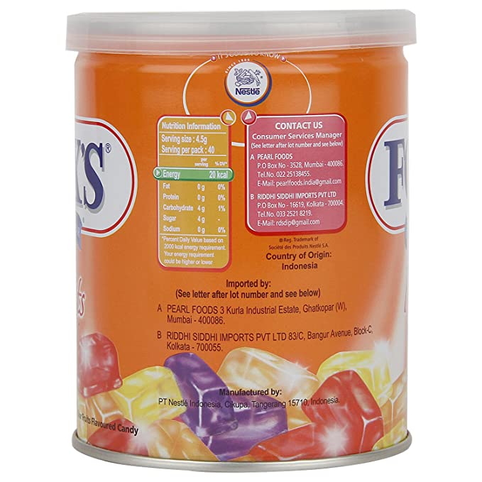 nestle fox s crystal clear fruits flavored candy tin 180g amazon in grocery gourmet foods