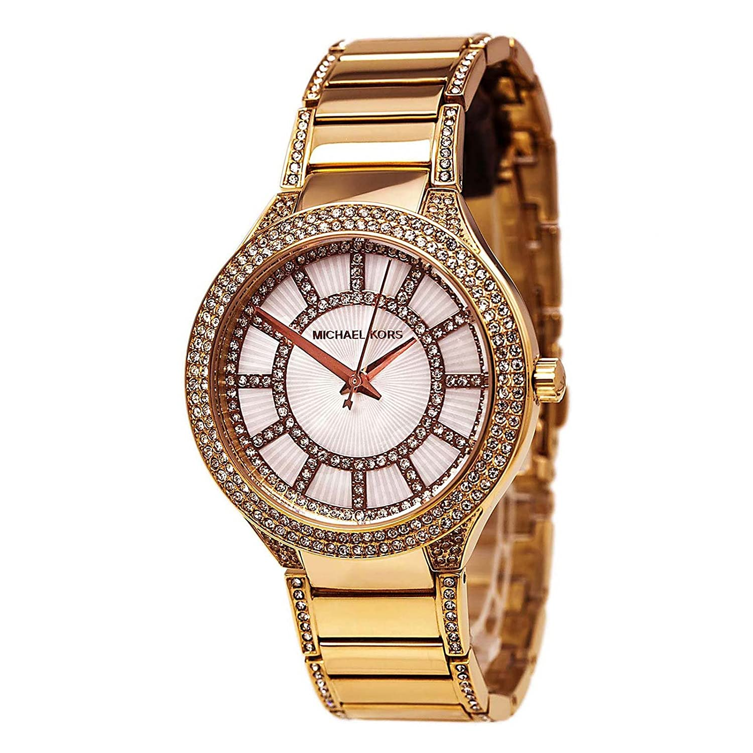 sports shoes 1ab87 aee48 Michael Kors Kerry White Crystal Dial Crystal-Set Steel Ladies Watch