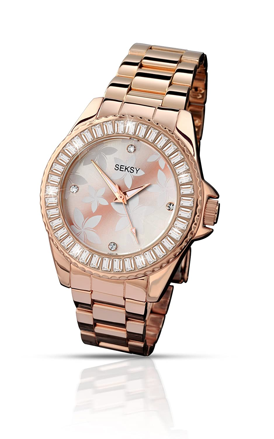 Seksy by Sekonda Women\'s Quartz Watch with Rose Gold Dial Display ...