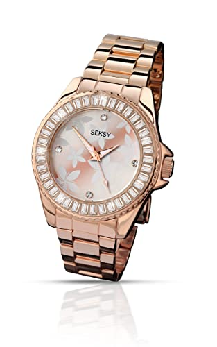 d7b5bfa9396e Seksy by Sekonda Women s Quartz Watch with Rose Gold Dial Display and Rose  Gold Stainless Steel Bracelet 4655.37  Sekonda  Amazon.co.uk  Watches