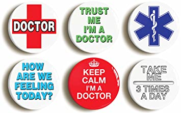 YOU/'LL FEEL A LITTLE PRICK BADGE BUTTON PIN Size is 2inch//50mm diameter DOCTOR