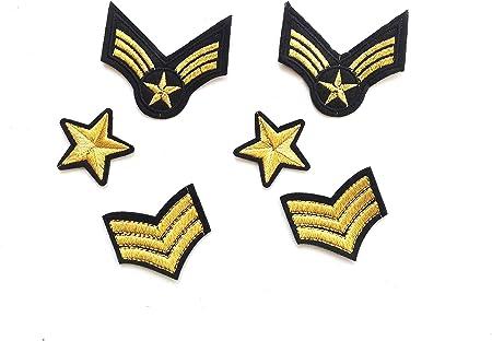6 parches termoadhesivo ARMY-estrella,3 stripes, para ropa,HC Enterprise: Amazon.es: Hogar