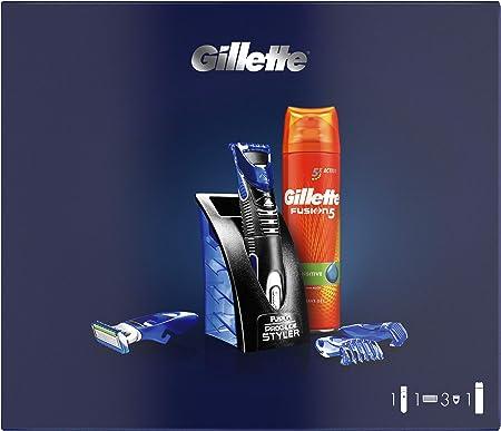 Gillette Styler Multiusos Set De Regalo Para Hombre y Gillette Fusion5 Ultra Sensitive Gel De Afeitado 200 ml