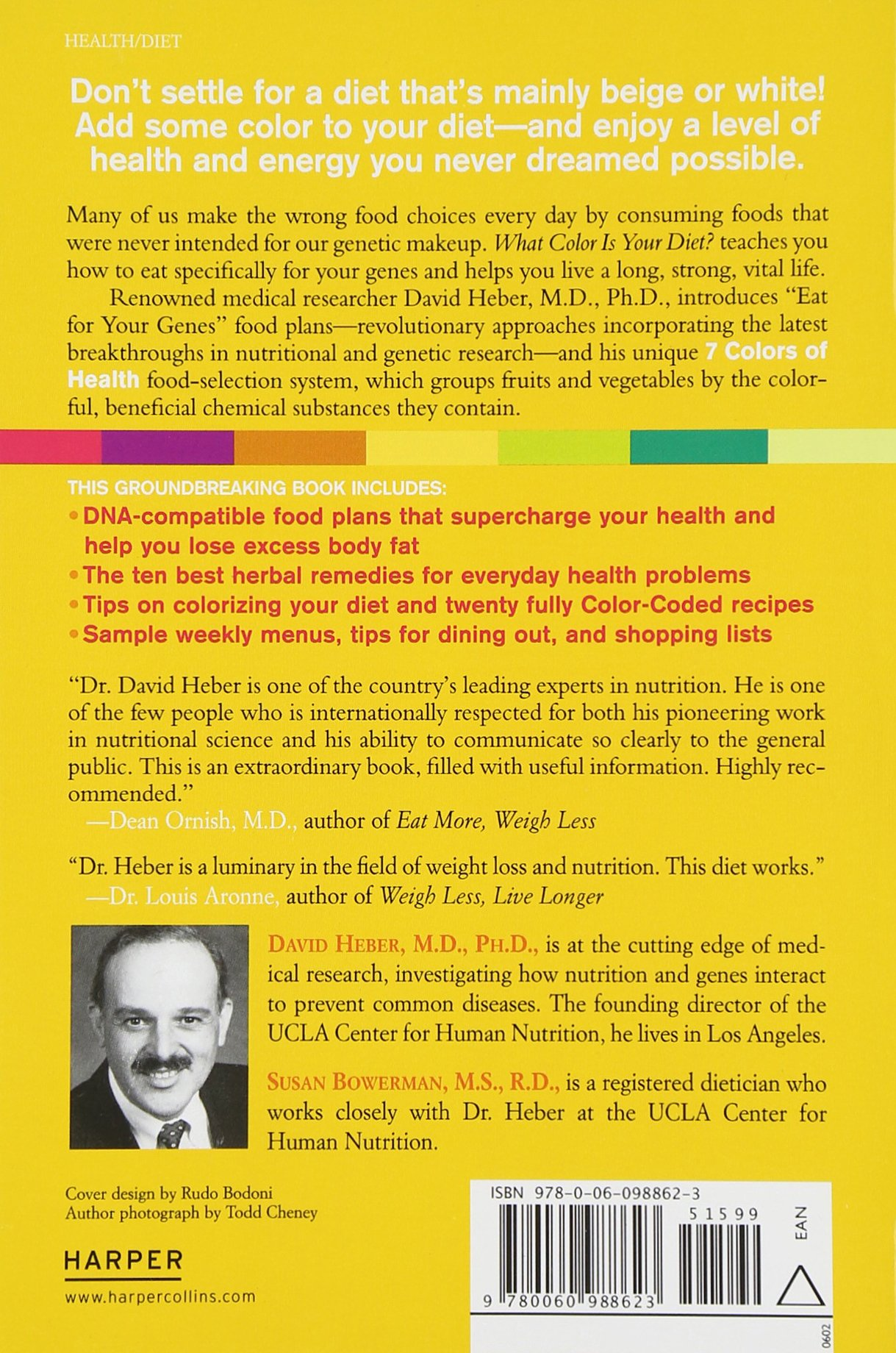 What Color Is Your Diet David Heber Md Phd 9780060988623 Amazon