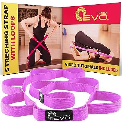 Yoga Evo Correa elástica de estiramiento con 10 trabillas ...