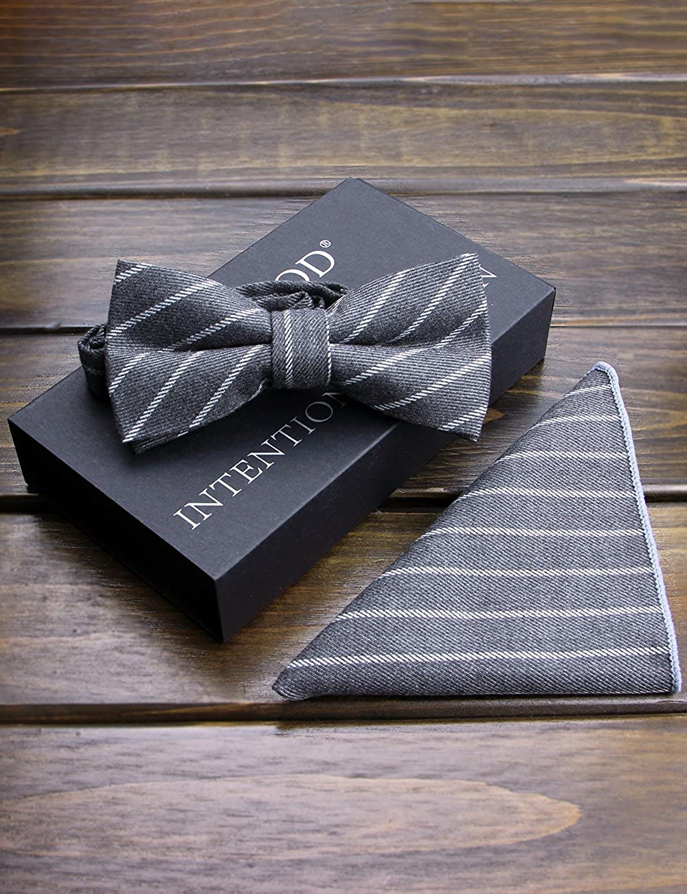 YFWOOD Cotton Bow Tie Pocket Square Sets Formal Tuxedo Wedding Party Bowtie for Adults /& kids Bow Ties For Men