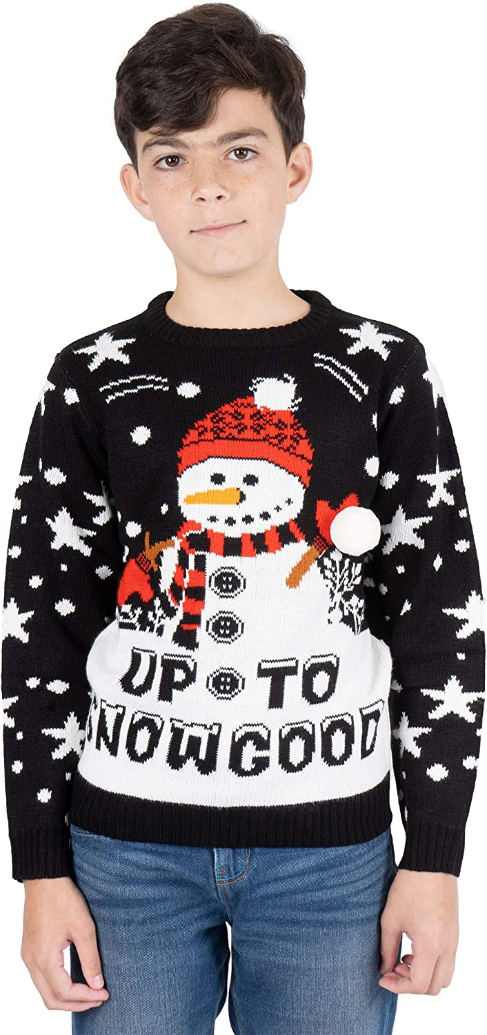 NOROZE Kids Christmas Jumpers Boys Girls Retro Novelty Sweater Children Gifts