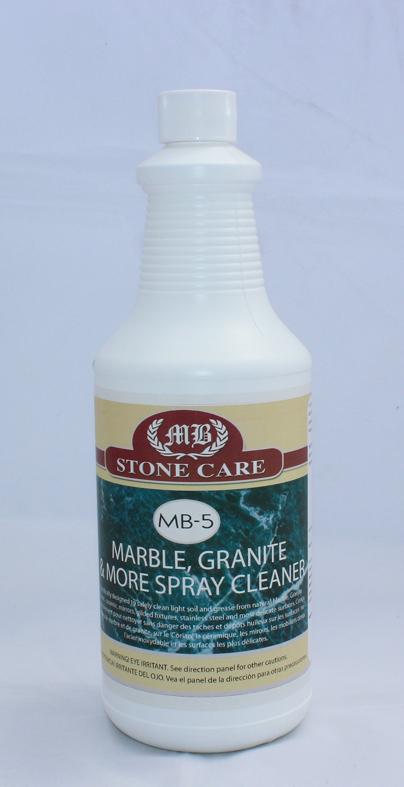 MB Stone Care MB-5 Marble Granite and More Spray Cleaner 1-Quart