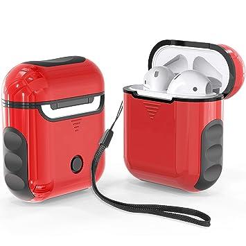 Funda Airpods,ORETech Funda para Airpods 1 & Airpods 2 Silicona + Hard PC Protectora Carcasa AirPods Cargando Protective Case Accesorios Funda para ...