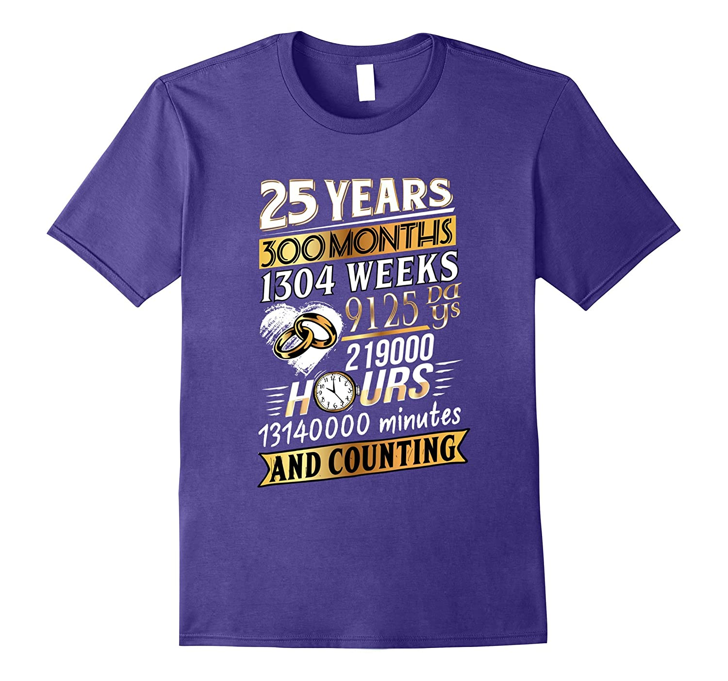 25th Anniversary T-Shirt 25 Years Wedding Marriage Gift-BN