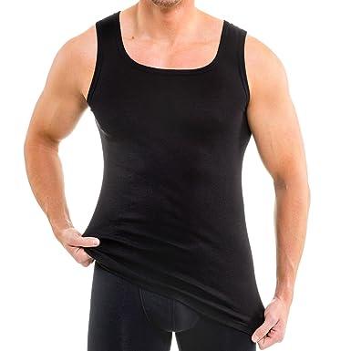HERMKO 93015 Pack of 2 Mens Undershirt Organic Cotton